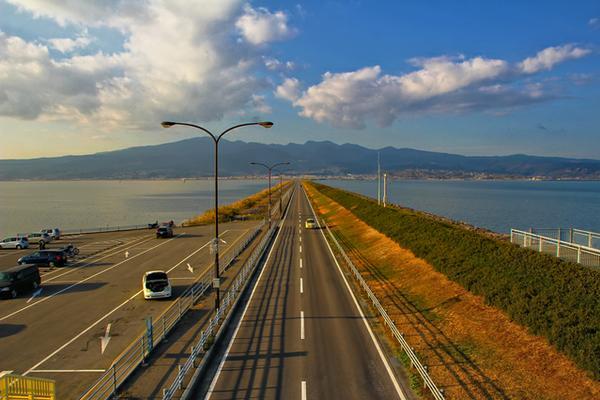 諫早湾干拓堤防道路(雲仙多良シーライン) image