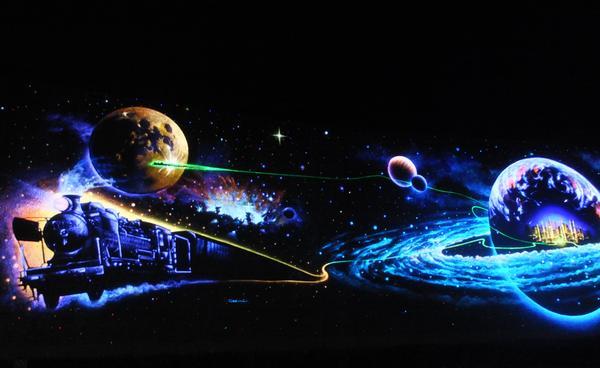 未来都市銀河地球鉄道壁画 image