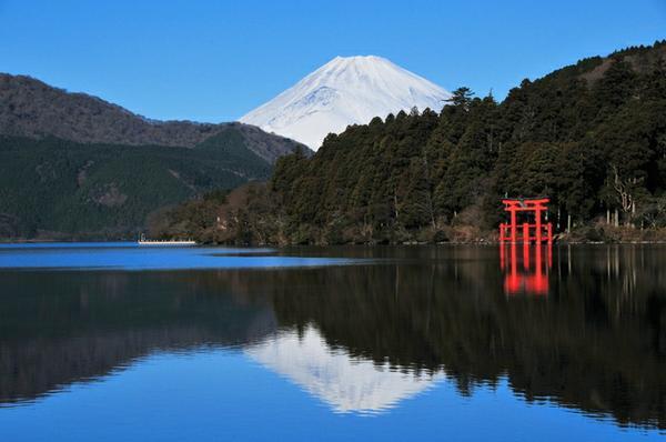 芦ノ湖の逆さ富士 image