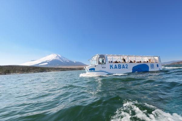 水陸両用バス「YAMANAKAKO NO KABA」(ヤマナカコ ノ カバ) image