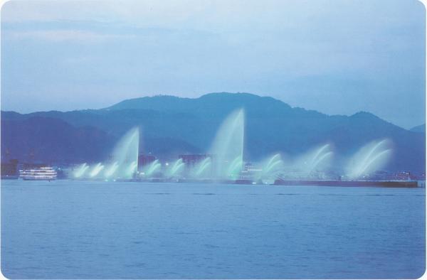 琵琶湖花喷泉 image