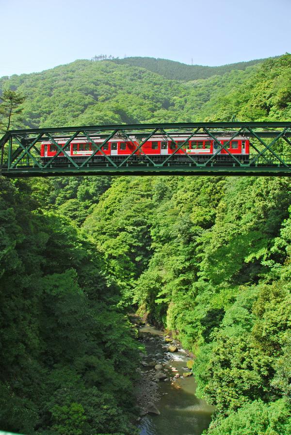 箱根登山鉄道 早川橋梁(出山の鉄橋) image